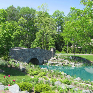 Inspiration for a traditional water fountain landscape in Milwaukee.