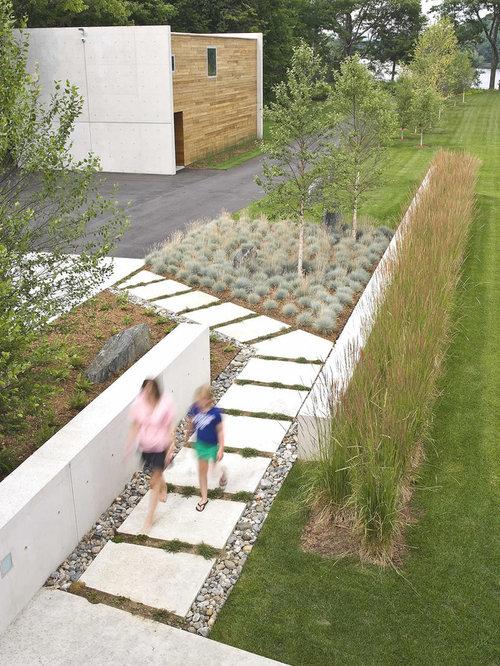 Best Modern Concrete Walkway Design Ideas & Remodel Pictures | Houzz