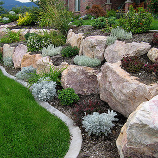 Rock Retaining Wall Inspiration For A Landscaping In Salt Lake City