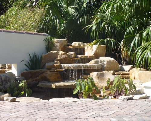 Landscape boulders fort lauderdale : Waterfall and koi pond wellington