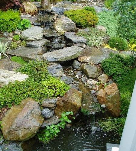 Rock Waterfalls And Ponds