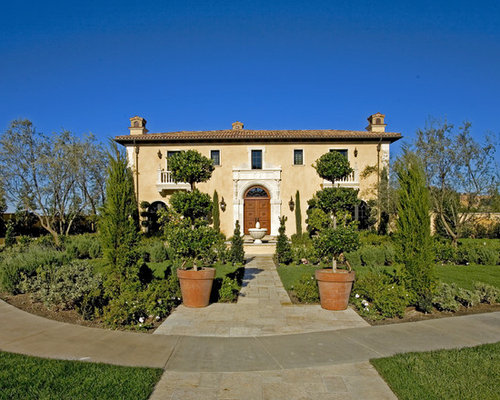Tuscan Front Yard Landscaping: Tuscan Home