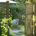 Romantic Tarrytown Terrace Eclectic Landscape New