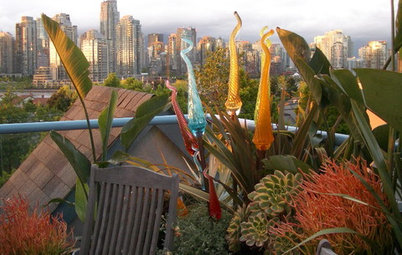 Double Take: Bizarrely Beautiful Spires Bloom on a Vancouver Roof Deck