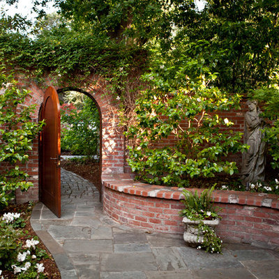 Photo of a traditional backyard stone landscaping in San Francisco.