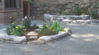 Round and Tiered Stone Garden Beds