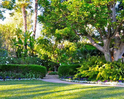 design ideas for a traditional shade backyard landscaping in orange county