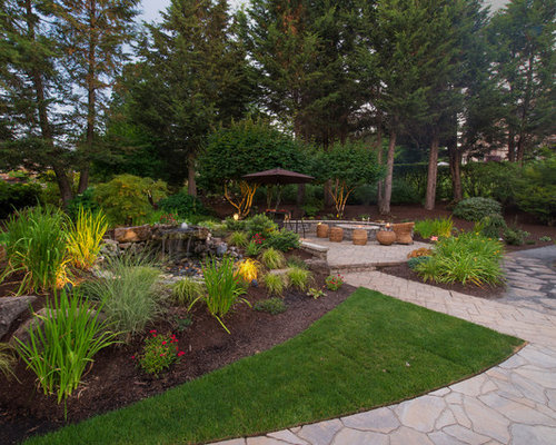Craftsman landscape design ideas remodels photos for Craftsman landscape design ideas
