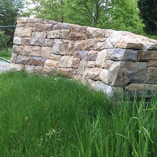 Rural Acreage Entry Gate; Ramp & Twist Stone Detail