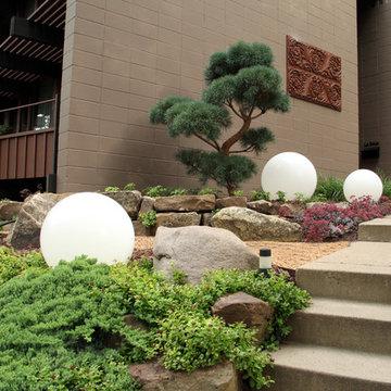 Rustic Mid Century Rock Garden