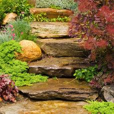 Rustic Landscape by Barry Block Landscape Design & Contracting, Inc.