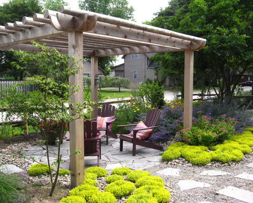 Raw Cedar Logs Pergola Home Design Ideas Pictures