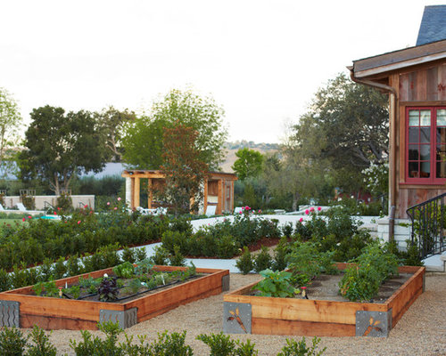 Raised Garden Bed On A Slope Houzz