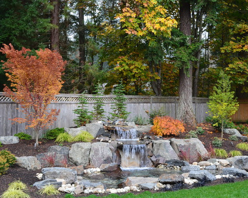 best backyard rock waterfall design ideas remodel pictures houzz - Waterfall Design Ideas