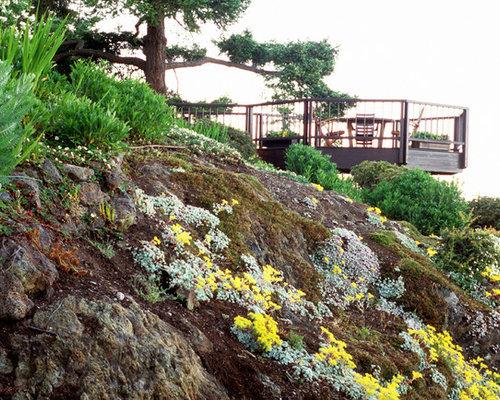Steep slope landscaping houzz for Slope landscape design