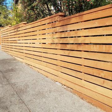 San Rafael Stepped Horizontal Fence