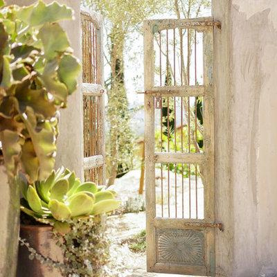 Photo of a mediterranean garden path in Santa Barbara.