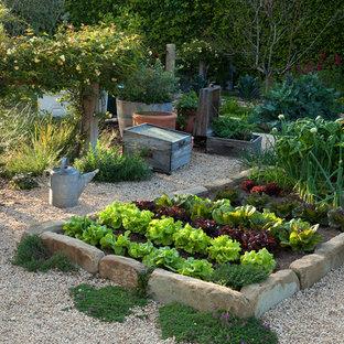 Réalisation d'un jardin potager méditerranéen de taille moyenne.
