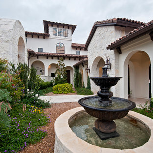 This is an example of a mediterranean landscaping in Austin.