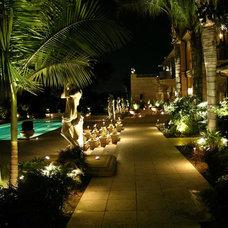 Mediterranean Landscape by Artistic Illumination