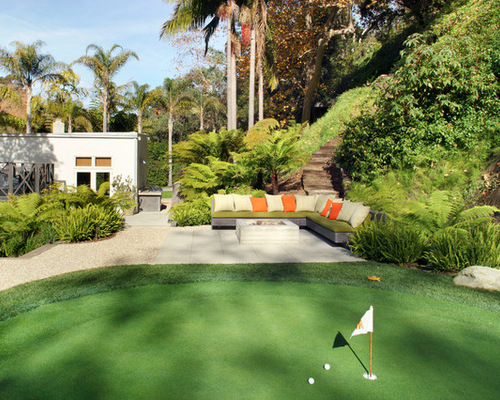 Backyard Golf Course Design pix for phil mickelson house practice facility Backyard Putting Green