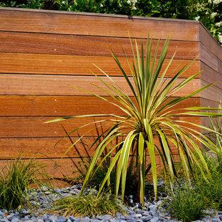 Immagine di un vialetto minimalista esposto in pieno sole di medie dimensioni e davanti casa in estate con un ingresso o sentiero
