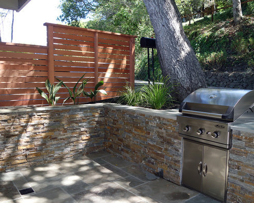 Sausalito ca landscape make over natural stone built in for Sausalito tile