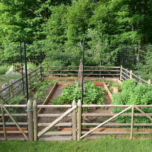 This is an example of a traditional vegetable garden landscape in New York.