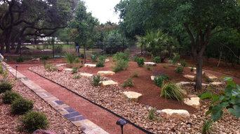 Screened Granite Walkway around new beds in backyard