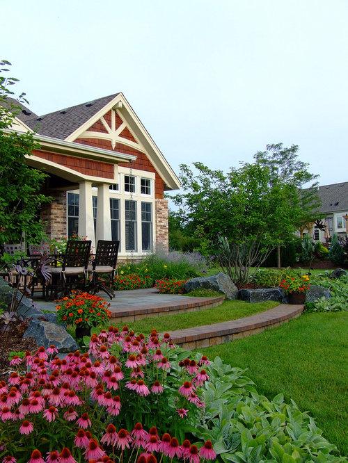 Craftsman landscape ideas designs remodels photos for Craftsman style garden designs