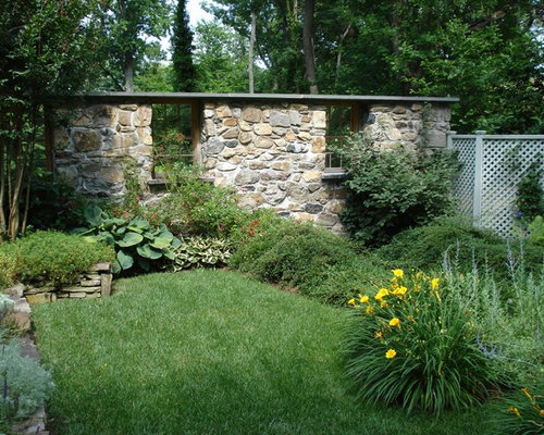 Garden Wall Ideas agreeable retaining garden wall ideas also home interior ideas with retaining garden wall ideas This Is An Example Of A Traditional Backyard Landscape In Baltimore