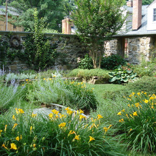 Photo of a traditional backyard landscaping in Baltimore.