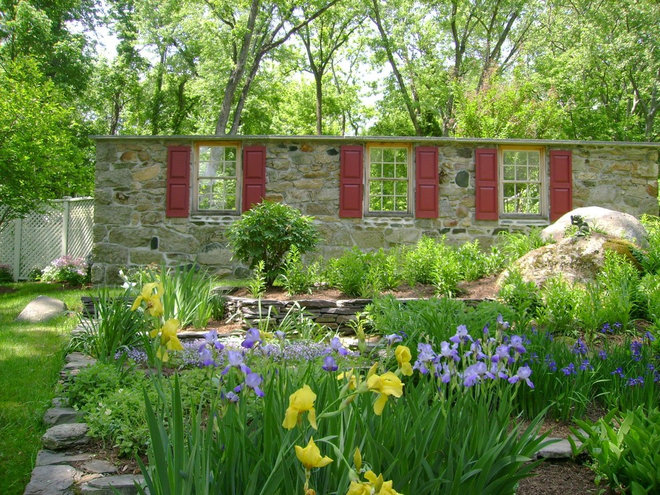 rustic landscape by Slater Associates Landscape Architects