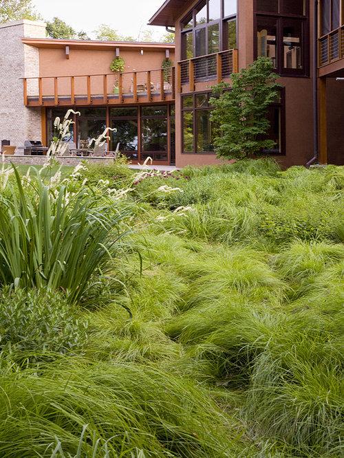 design ideas for a contemporary backyard landscaping in chicago - Garden Ideas North Carolina