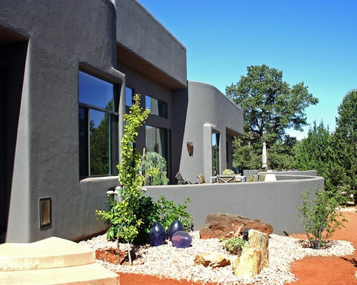 Grey stucco houzz - How much to stucco exterior of house ...