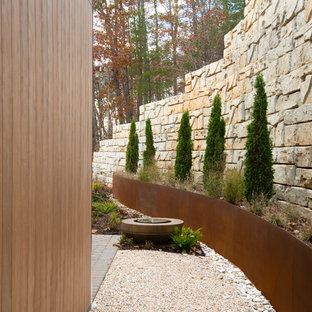 This is an example of a mid-sized midcentury modern side yard landscaping in Other.
