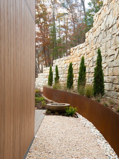 Midcentury Landscape by Living Stone Design + Build