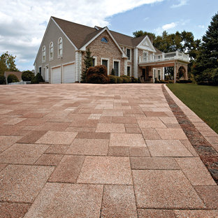 Inspiration For A Traditional Front Yard Concrete Paver Driveway In Other