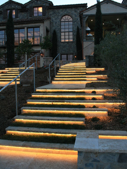 21 Staircase Lighting Design Ideas Pictures: Exterior Stair Lighting Home Design Ideas, Pictures