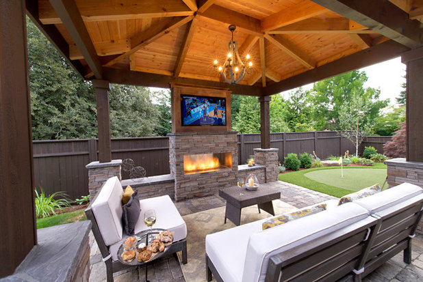 Contemporary Landscape by Paradise Restored Landscaping & Exterior Design