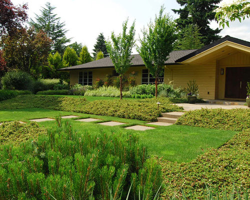 Inspiration For A Contemporary Front Yard Landscaping In Portland