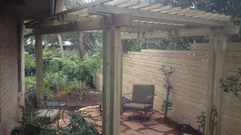 side yard landscape renovation and sitting arbor