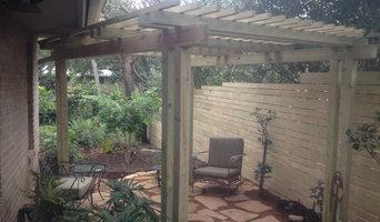 side yard landscape renovation and sitting arbor