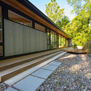 Kleiner Moderner Garten in Cincinnati