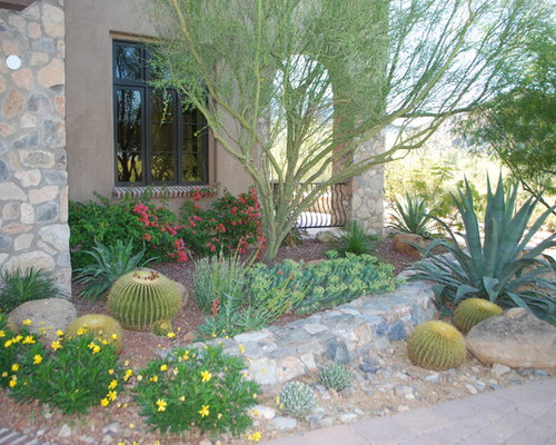 Houzz Desert Garden Design Ideas Remodel Pictures