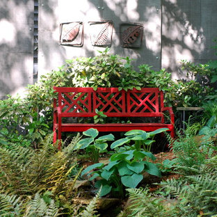 Design ideas for a bohemian fully shaded garden in Charlotte.