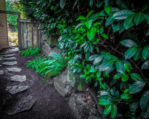 Landscape Timbers Portland Or : Hillside garden