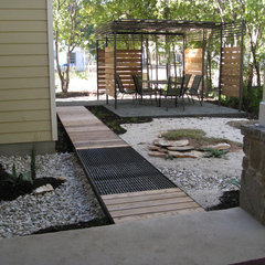 contemporary landscape Small Backyard Oasis
