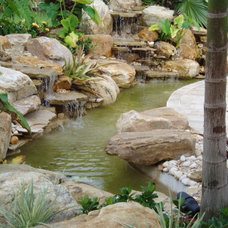 Tropical Landscape by Waterfalls Fountains & Gardens