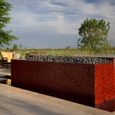 Contemporary Landscape by Red Rock Pools and Spas and Red Rock Contractors